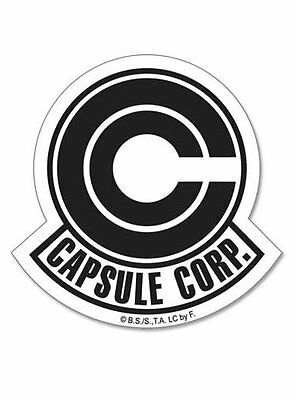 Dragon Ball Z Capsule Corp. Logo Symbol Sticker DBZ Official Licensed Funimation