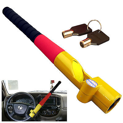 ANTI THEFT BASEBALL BAT STYLE STEERING WHEEL LOCK HEAVY DUTY WITH 2 KEYS 81258c