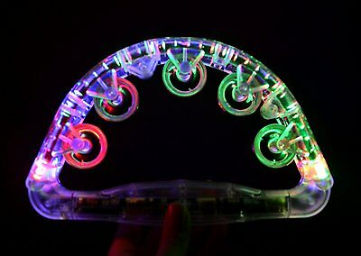 Sensory Toy LED Light Up Flashing Tambourine NEW Autism and Special Needs