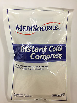 ( Pack of 12) MediSource Instant Cold Compress CP6X9 Pain Relief Ice Pack