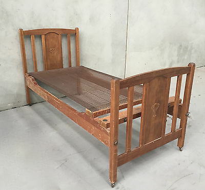Antique King Single Bed - Solid Timber with Spring Mesh - easy to assemble 3930