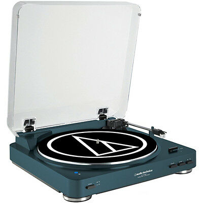 Audio-Technica AT-LP60 Automatic Wireless Belt-Drive Stereo Turntable - Navy
