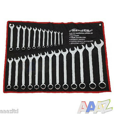 25pc Metric Combination Ring Open Ended Spanner Garage Tool Set 6mm - 32mm
