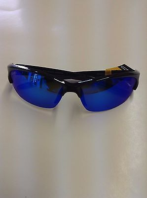 New Authentic Calcutta Andros Sunglasses - Frame is Black Pattern with Blue Lens