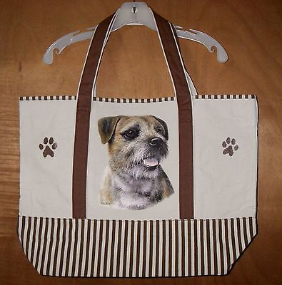 BORDER TERRIER - 100% Cotton Canvas, heavy duty, X-Large TOTE BAG