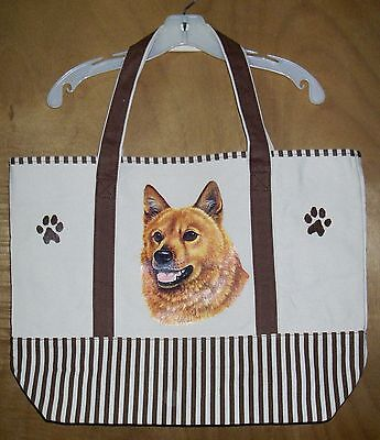FINNISH SPITZ - 100% Cotton Canvas, heavy duty, X-Large TOTE BAG