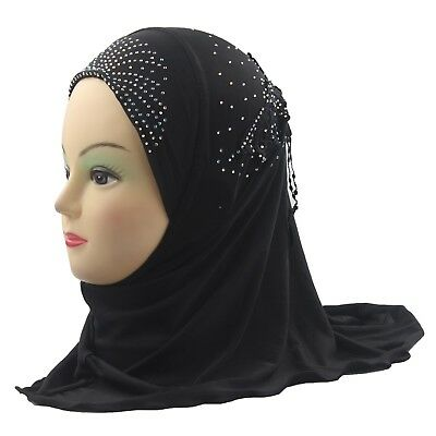 2016 Girls Kids Muslim Beautiful Hijab Islamic Arab Scarf Shawls Flower Pattern