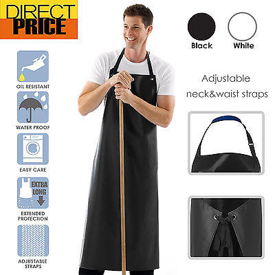 Heavy duty Apron Waterproof Black White PVC Protective PU Plastic Industrial