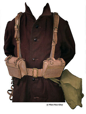 Complete Set of Canadian 1916 Pattern Oliver Leather  Equipment