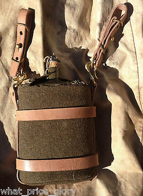 Canadian 1916 Pattern Oliver Leather Water Bottle Carrier