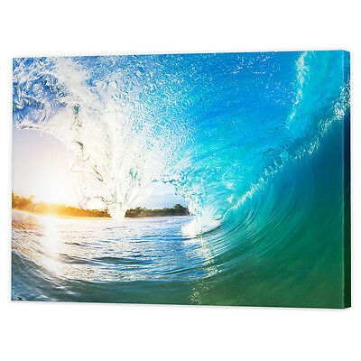 Ocean Fine Art Photography Canvas   Framed Ready to Hang Seascape Wall Pictures