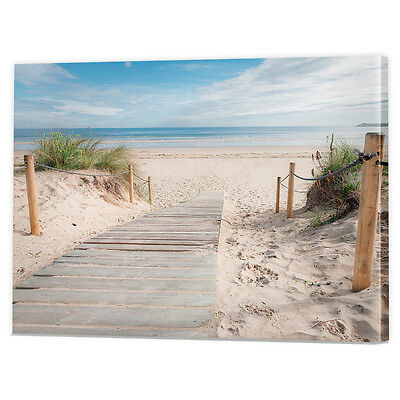 Tropical Beach Canvas Art Print | Framed Ready to Hang Coast Wall Pictures