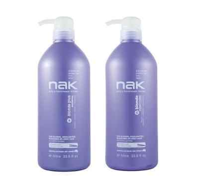 Nak Blonde Plus Shampoo and Conditioner 1000ml Duo Pack 1 Litre