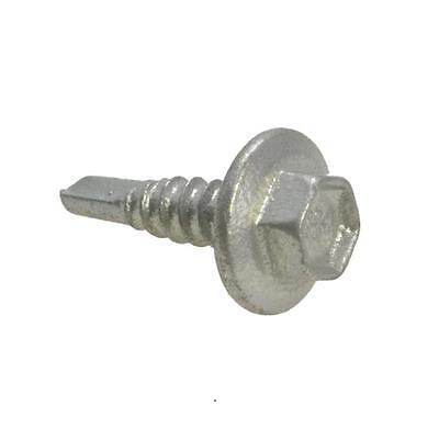 Qty 500 Hex Metal Self Drilling 10g-16 x 25mm Galvanised Screw Tek Roofing