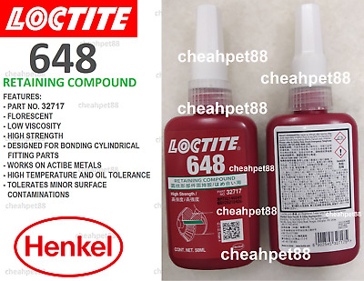 LOCTITE 648   Retaining Compound - high strength 50ml - Free Shipping
