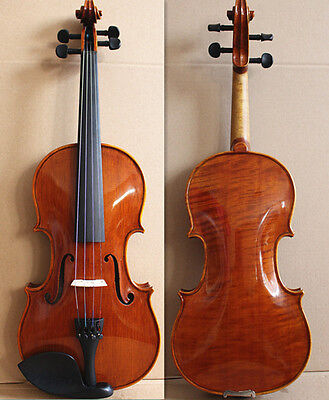 Beautiful One-Piece Back 4/4 Hand Made & Varnished Violin/ Free Bow & Case