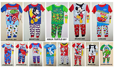 *nwt- Infant Boy's 2-Pc Licensed Character Ss Knit Pajama Set- Size: 12M - 5T