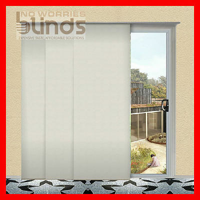 NEW! Ready Made Blockout Panel Glides Glide Blind Blinds Sizes & Colour Choices
