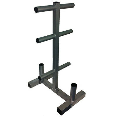 """Commercial Olympic Weight Plate Tree Rack Stand for 2"""" Plates/Discs 2 Bar Holder"""