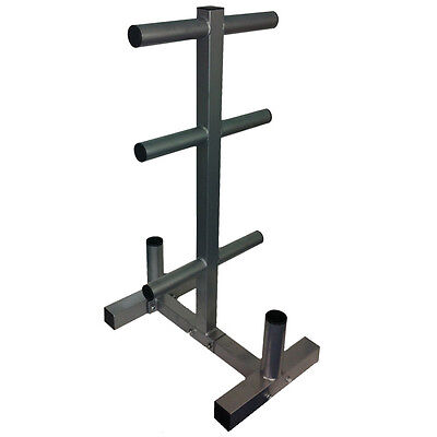 """EVINCO Olympic Weight Plate Tree Rack Stand for 2"""" Plates/Discs 2 Bar Holder"""