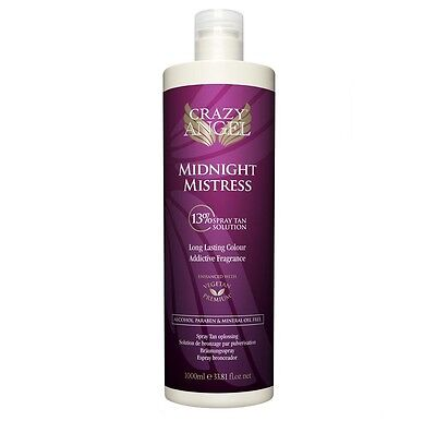 Crazy Angel Midnight Mistress 13% Spray Tan Solution 1000ml Litre