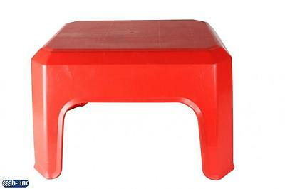 B-Line Step Stool Red Kitchen Multi Purpose Outdoor Plastic Furniture Home New