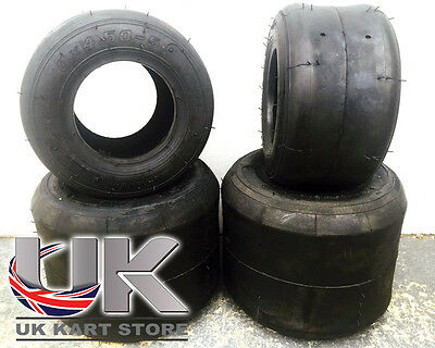 Fun Kart Karting Prokart Rubber Hard Tyre Set UK KART STORE