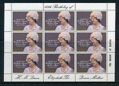 1980 Queen Mother 80Th Birthday Sheetlets Crown Agents Set (10 Countries) Mnh