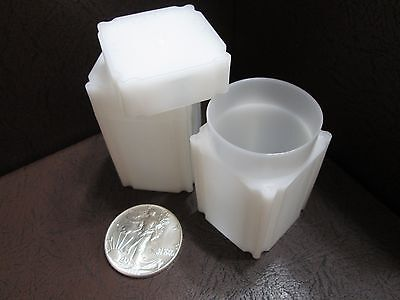 100 Coinsafe Square Coin Tubes For 1oz American Silver Eagle Dollar 41mm AE$