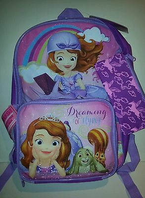 Girls Disney Junior Sofia the First Dreaming of Flying Backpack and Lunch tote