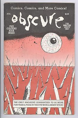 Obscure Comic #1 1/2 (1985) VF w/Coloring Book Alternative Underground Comix