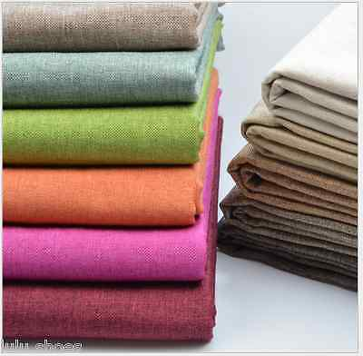 Plain Soft 100% LINEN Fabric Material upholstery curtains -150cm wide by M