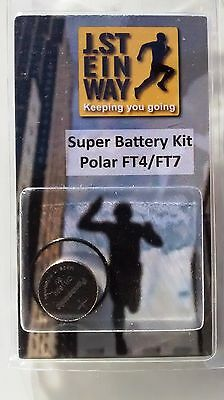 Battery and Superior Waterproof Seal Kit for Polar FT4 & FT7