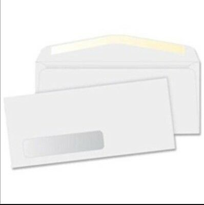 New 500 #10 Window Envelopes 500 Count Gummed Seal Flap/Security Tint