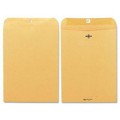 Quality Park 37890 Clasp Envelope, 9 x 12, 28lb, Brown Kraft, 100/Box