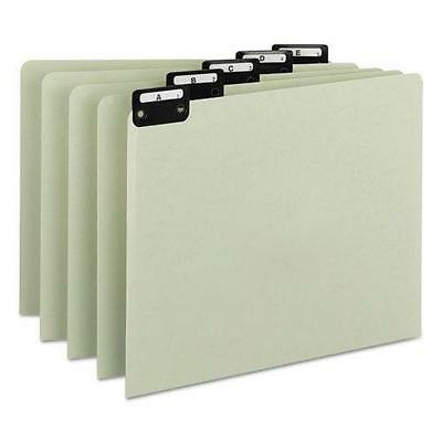 Smead 50576 Green Recycled Top Tab Guides, Alpha, 1/5 Tab, Pressboard, Letter, 2