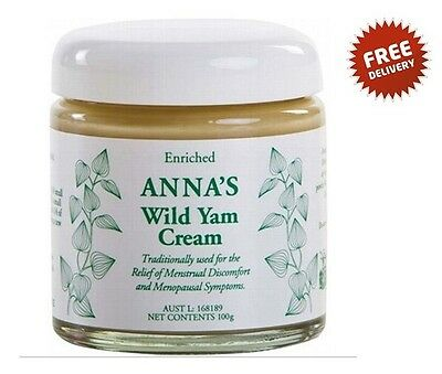 ANNA'S Wild Yam Cream for Menstrual and Menopausal Symptoms High Potency 100g