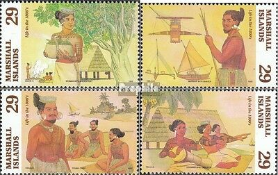 Marshall-Islands 484-487 unmounted mint / never hinged 1993 Life in 19. Jhd.