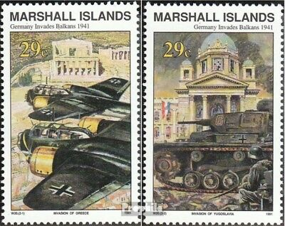 Marshall-Islands 347-348 unmounted mint / never hinged 1991 History of II. world