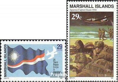 Marshall-Islands 385,390 unmounted mint / never hinged 1991 US-peace corps, II.