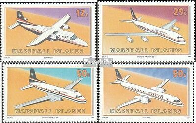 Marshall-Islands 372-375 unmounted mint / never hinged 1991 Aircraft