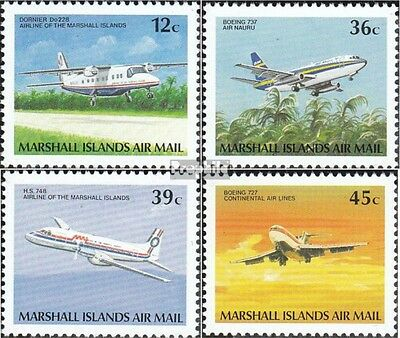 Marshall-Islands 217A-220A unmounted mint / never hinged 1989 Aircraft
