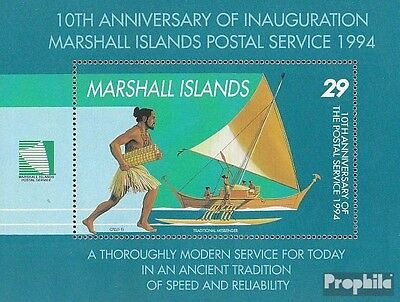 Marshall-Islands block9 unmounted mint / never hinged 1994 10 years Postal Servi