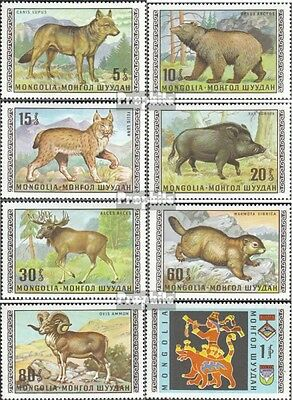 Mongolia 578-585 unmounted mint / never hinged 1970 Locals Wildlife
