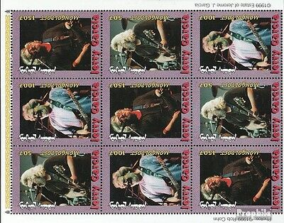 Mongolia 3075-3077 Sheetlet unmounted mint / never hinged 2000 Jerry Garcia