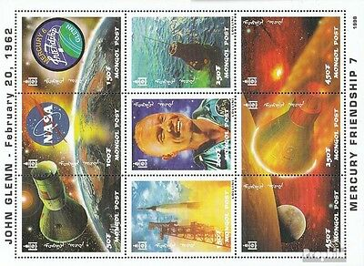 Mongolia 2913-2921 Sheetlet unmounted mint / never hinged 1998 Space flight of J