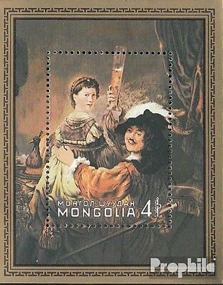 Mongolia block74 unmounted mint / never hinged 1981 Rembrandt