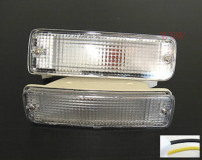 Toyota Hilux 88-97 Clear Bumper Bar Indicator Lights LH R LAMP PICK UP 1996 1994
