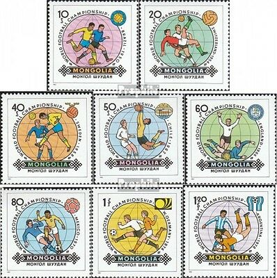 Mongolia 1467-1474 unmounted mint / never hinged 1982 Football-WM 1982 in Spain