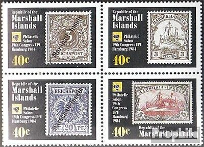 Marshall-Islands 15-18 block of four unmounted mint / never hinged 1984 universa
